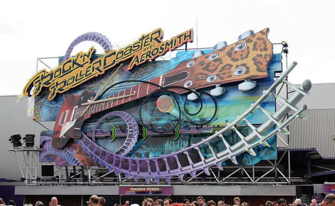 Rock Roller Coaster Disney Studios Paris