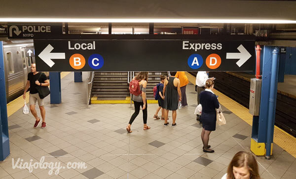 Trenes Local y Express Como usar el metro de NYC