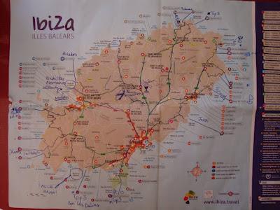 Nuestro trabajado mapa de Ibiza