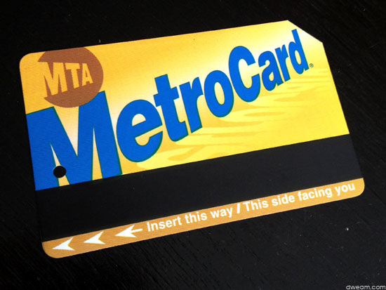Tarjeta del metro de NYC