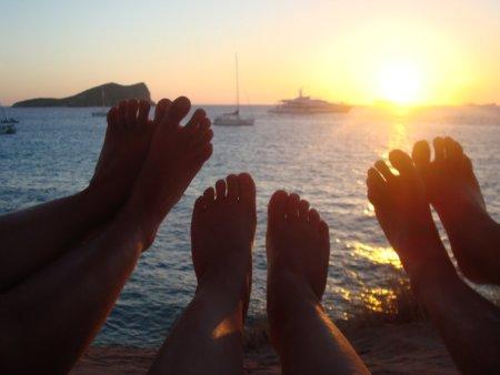 Puesta de sol en Ibiza (Lara, Vic y Óscar)