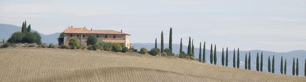 Típico paisaje de la Toscana