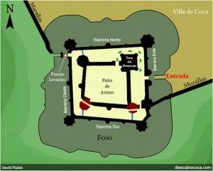 Plano del castillo de Coca