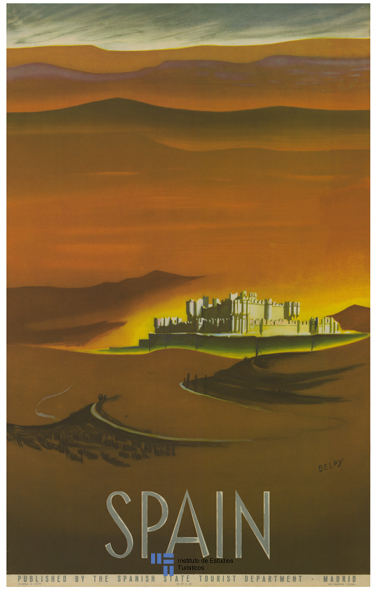 Cartel de turismo de 1950 (Castillo de Coca)
