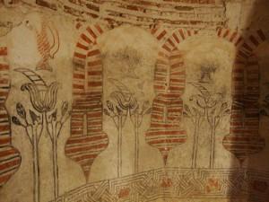 Pinturas en el castillo de Coca