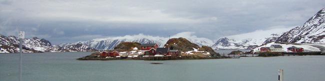 Casitas en la isla del Nordkapp