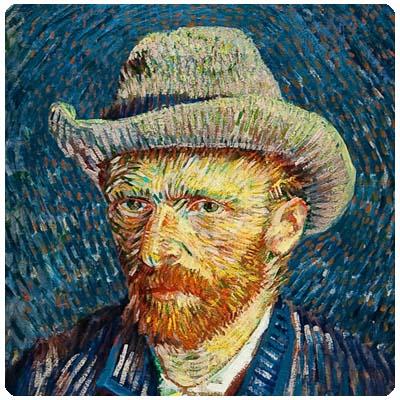 Autorretrato con sombrero Van Gogh