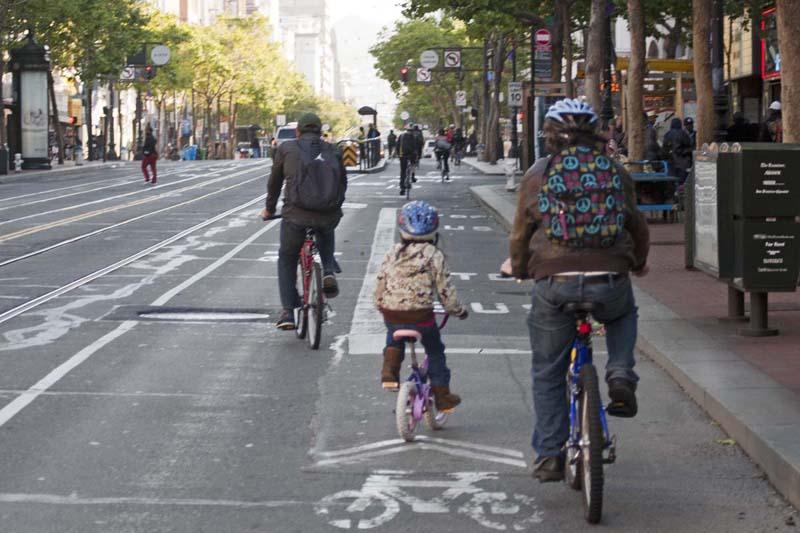 Bicicletas en Market Street
