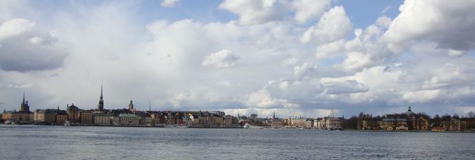 Panoramica de Estocolmo ceniza