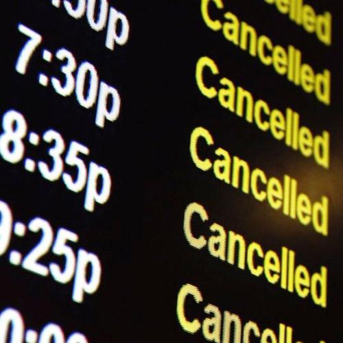 Principal trafico aereo cerrado