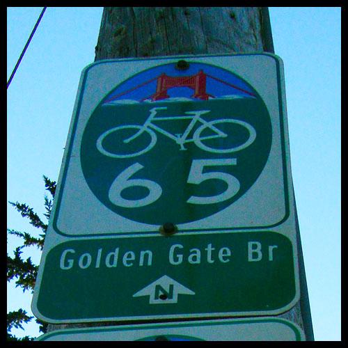 Señal trafico puente golden gate