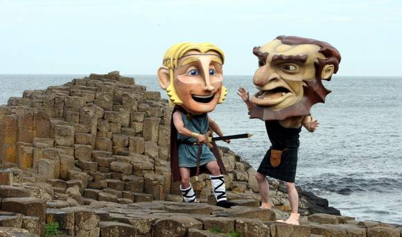 Gigantes en Giant's Causeway