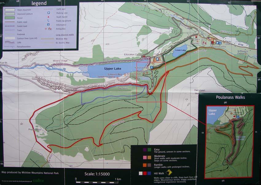 Plano de Glendalough