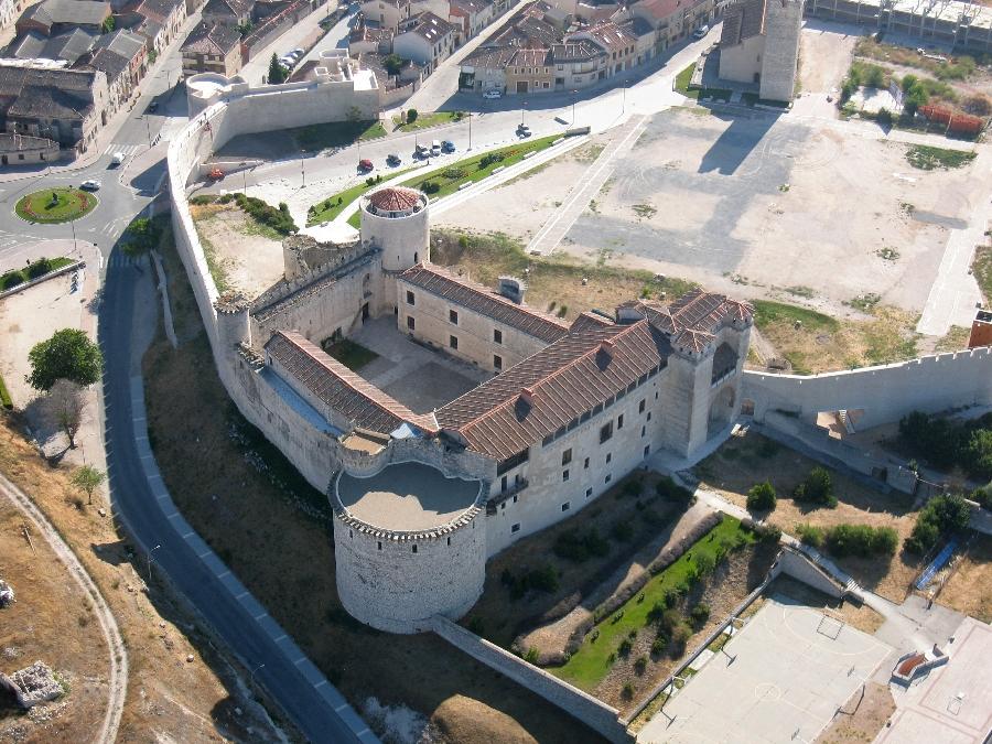 Vista aérea del Castillo de Cuéllar