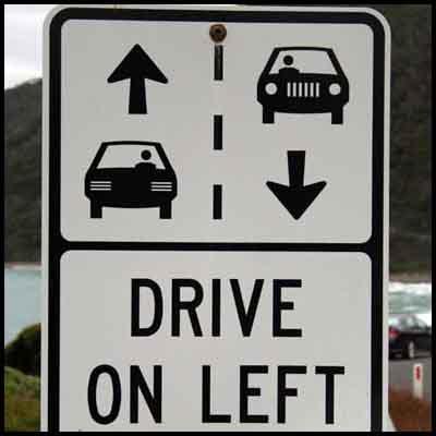 conducir izquierda señal