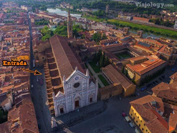 Vista aerea de la Iglesia de la Santa Croce