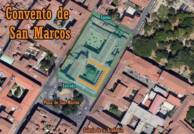 Localización Museo de San Marcos de Florencia
