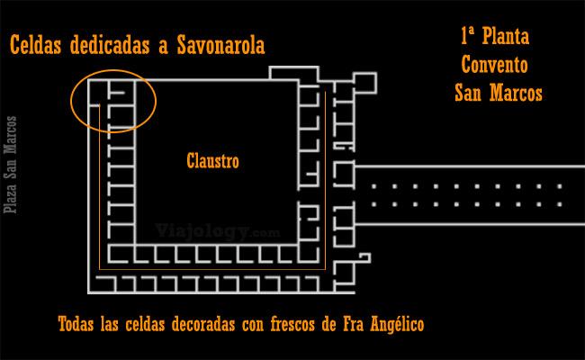 Plano Convento de San Marcos de Florencia