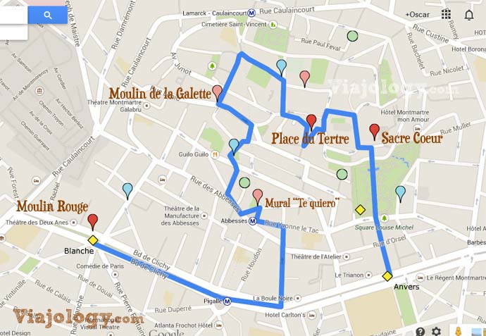 Ruta por Montmartre