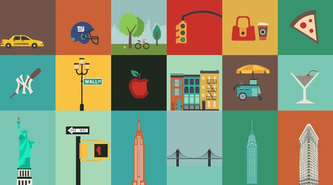 Iconos sobre Nueva York