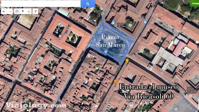 Plano Florencia Galería de la Academia