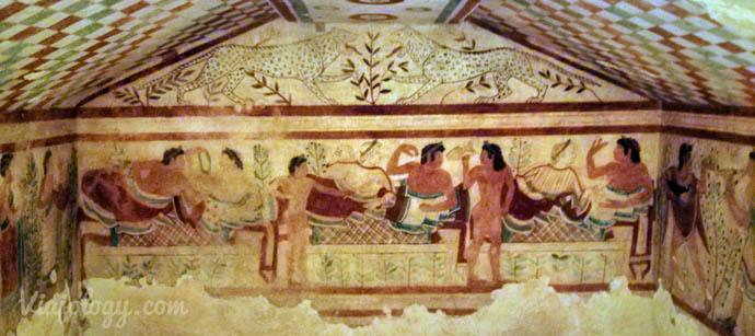 Pinturas de la Necrópolis de Tarquinia
