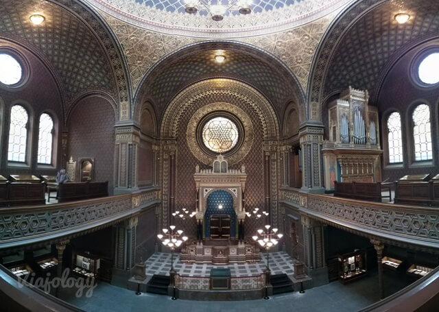 Interior Sinagoga Española de Praga