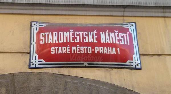 Señal calles de Praga