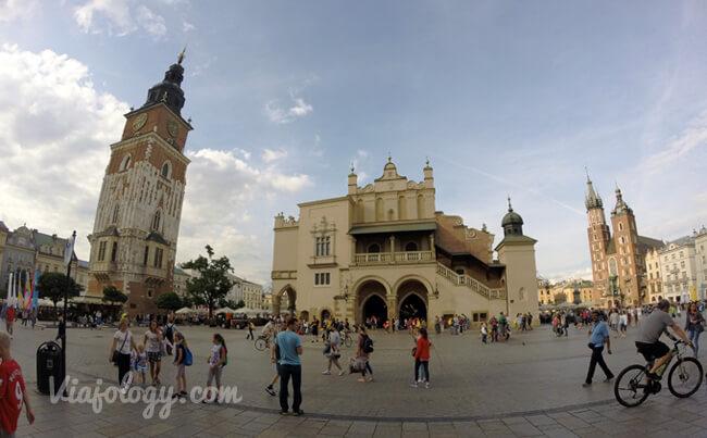Plaza del Mercado en Cracovia