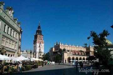 Mercado y Torre Ayuntamiento Cracovia
