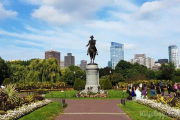 Escultura de George Washington en Boston Public Garden
