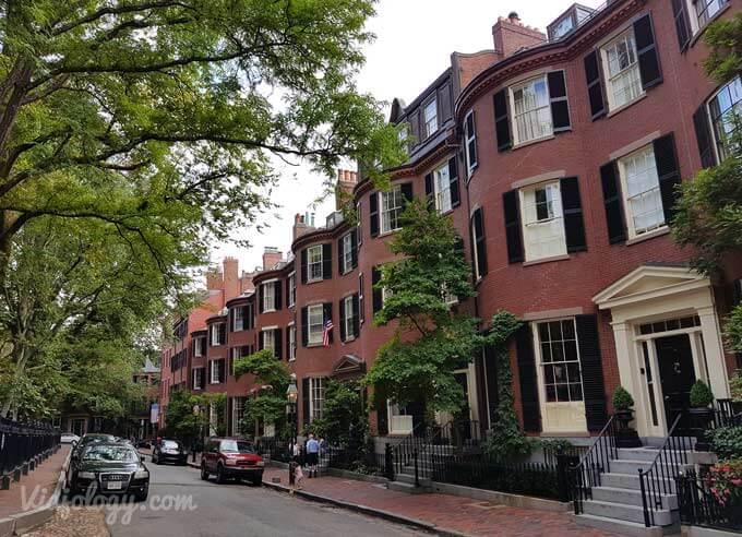 Casas típicas de Boston