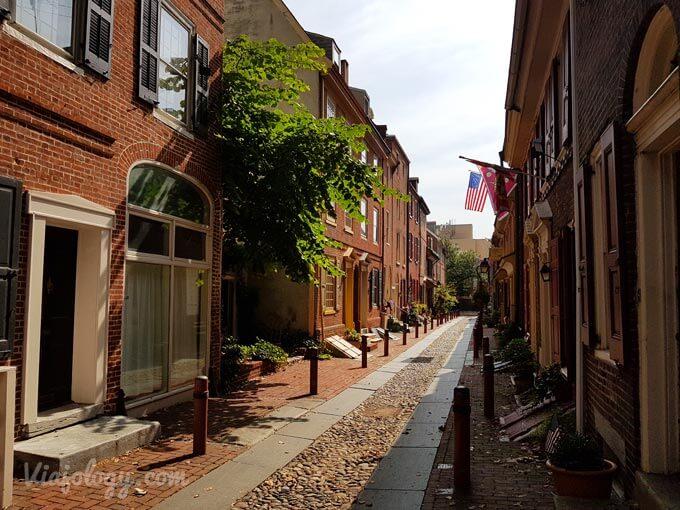 Elfreths Alley la calle residencial mas antigua de Estados Unidos
