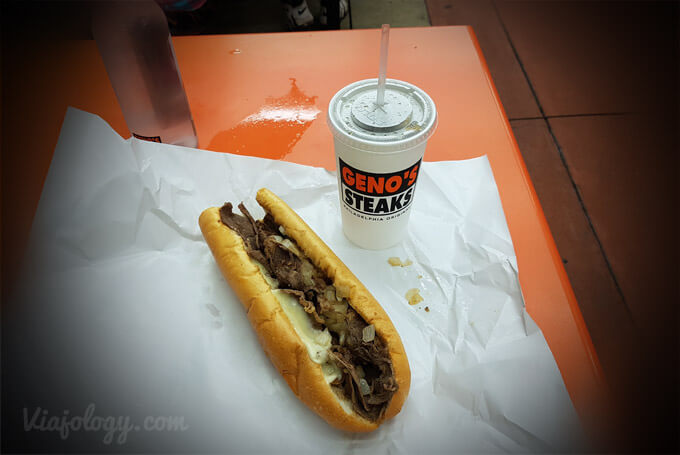 Comer en Filadelfia un Cheesesteak