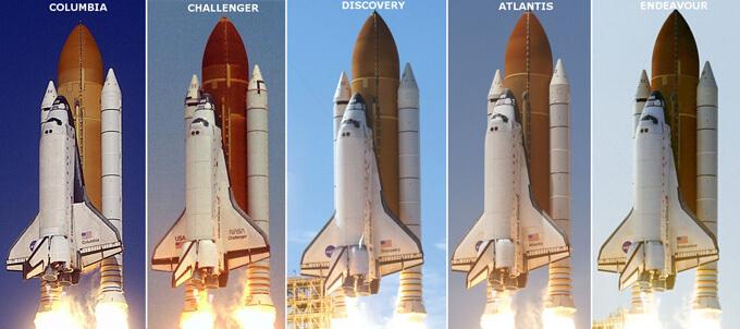 Transbordadores Espaciales de la NASA