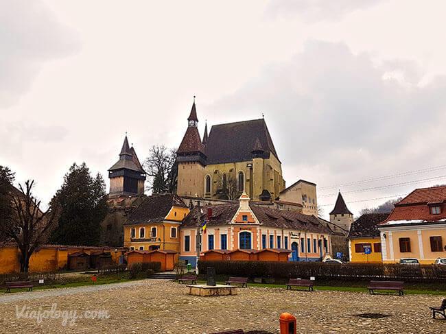 Iglesia fortificada de Biertan en Rumanía