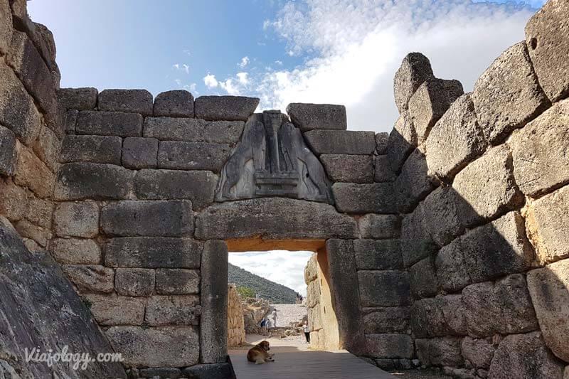 Visitar Puerta de los Leones de Micenas en Grecia