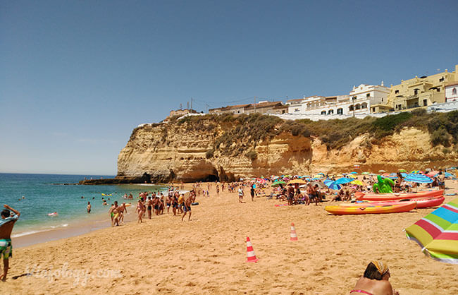 Playa Lagos en el Algarve
