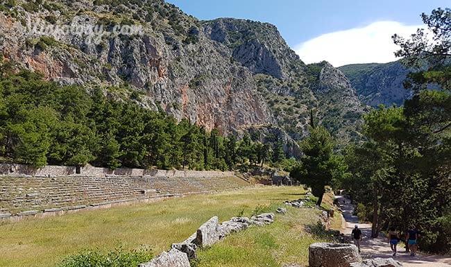 Estadio de los Juegos Pitios en Delfos