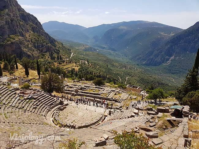 Teatro que visitar en Delfos