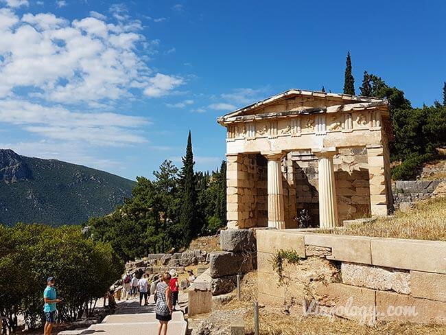 Tesoro de Atenas en Delfos, Grecia