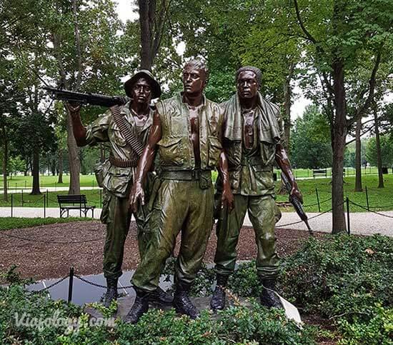 Escultura de los Tres Soldados en Washington