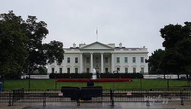 Fachada Norte de la Casa Blanca en Washington