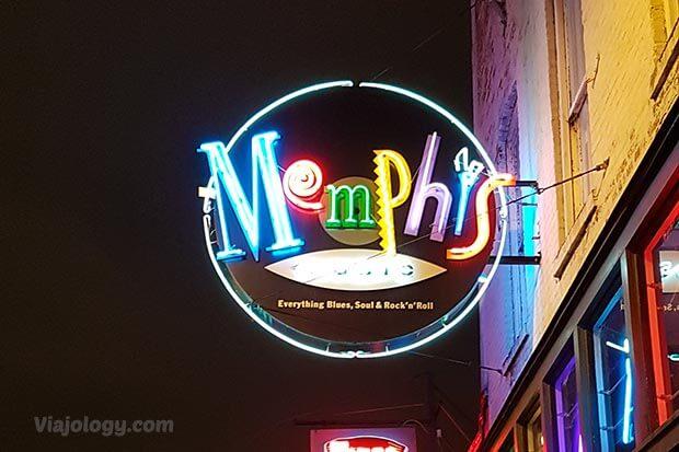 Letrero luminoso de Memphis