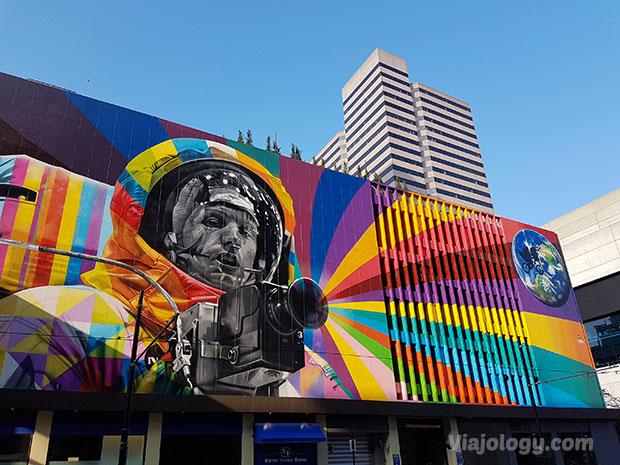 Mural de Neil Armstrong en Cincinnati