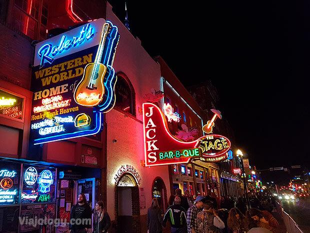Calle Broadway de Nashville
