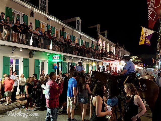 Bourbon Street en Nueva Orleans