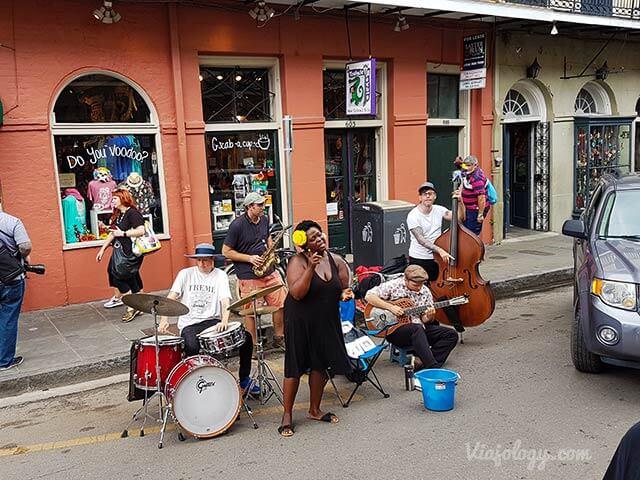 Música en las calles del Barrio Francés