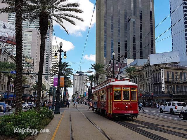 Tranvía en Canal Street