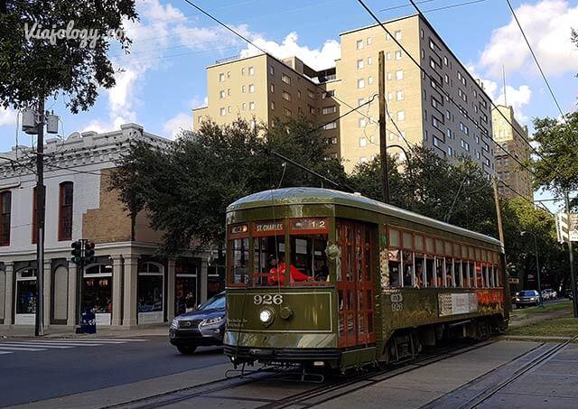 Tranvía de Saint Charles en Nueva Orleans